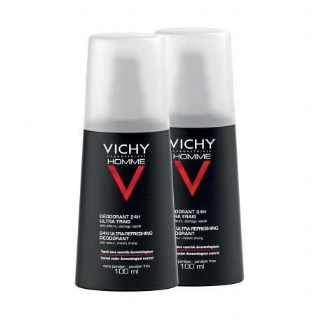 Vichy Homme Desodorante 24h Ultra Fresco vapo 100ml x2 unidades
