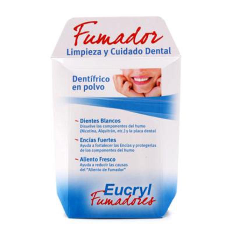 Eucryl Fumadores Dentífrico en Polvo 50gr