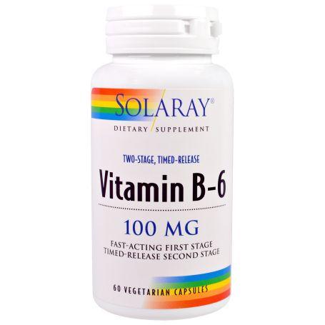Solaray Vitamina B-6 100mg 60 cápsulas