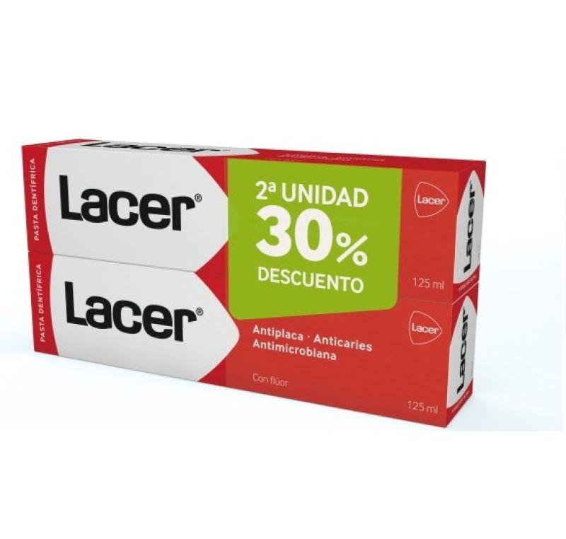 Lacer Dentífrico Anticaries con flúor 125ml x2 unidades