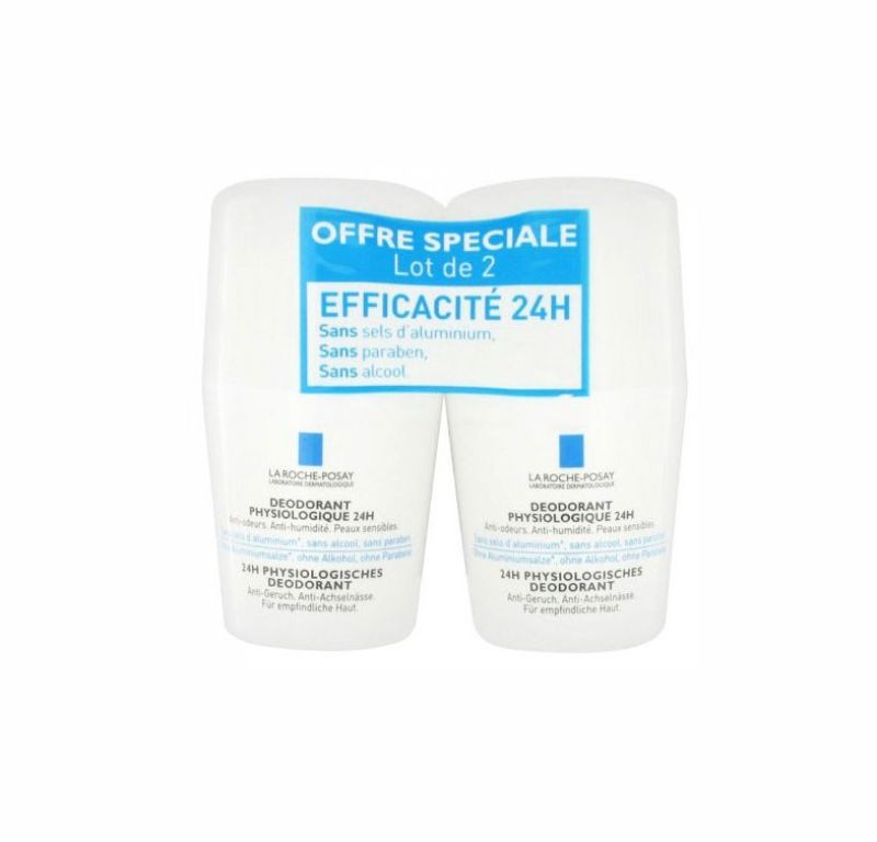 La Roche Posay Desodorante Roll-on 24 h 50 ml x2 unidades