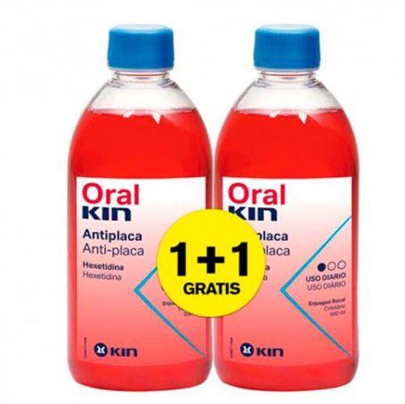 Oralkin Colutorio Antiplaca 500ml x2 unidades