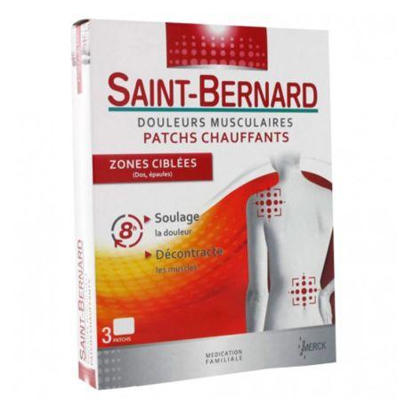 Saint Bernard Parches Calor Dolores Musculares Espalda Hombros 3 parches
