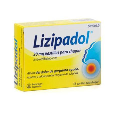 Lizipadol 20mg Alivio Dolor Garganta Agudo 18 comprimidos