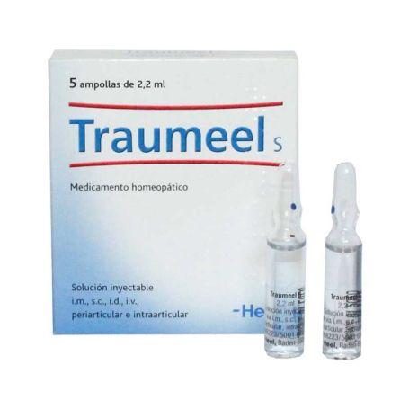 Traumeel S medicamento homeopático dolor y contusiones 5 ampollas