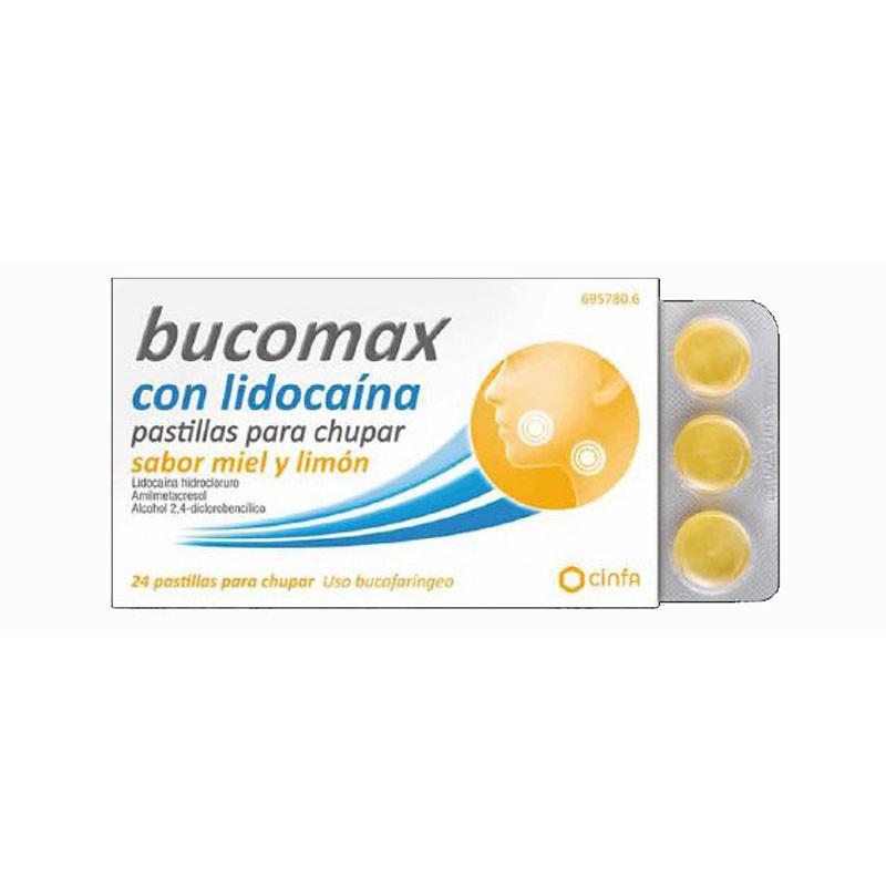 Bucomax con Lidocaina Pastillas Miel y Limón 24ud