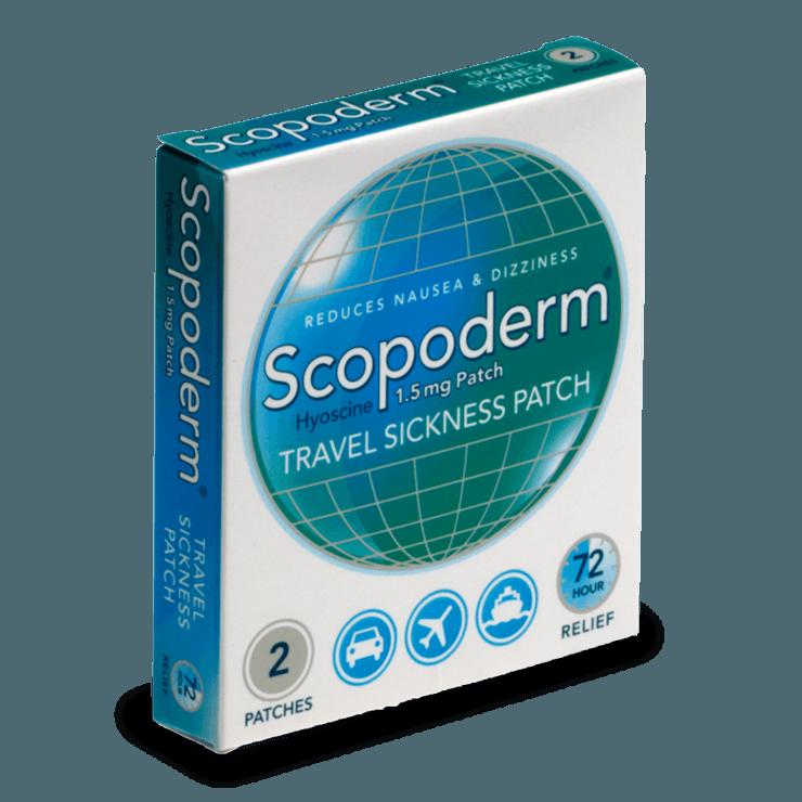 Scopoderm de scopolamina previene los mareos en los viajes