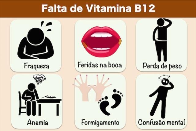falta de vitamina b12